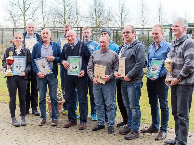 Die Sieger 2018 der Pokalgemeinschaft Weser-Eyter von 1968